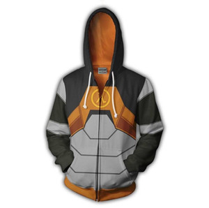 Мода тонкие толстовки Игра Half-life 2 Полный Zip пуловер пальто куртка унисекс джемпер толстовка толстовка с капюшоном куртки толстовки Мужчины Женщины