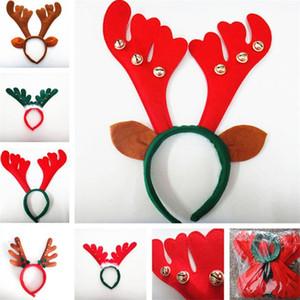 Yeniyıl Geyiği boynuz Hairband Bell Geyik Boynuz Headban Kulak Başkanı Hoops Cadılar Bayramı Partisi festivali Süsleri yetişkin çocuklar çocuk giyim için