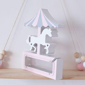 Holz Einhorn Piggy Bank Geburtstags-Geschenk für Kinder Geld-Kasten-Münzen-Bank Personalisierte Gravur Geschenk 2colors