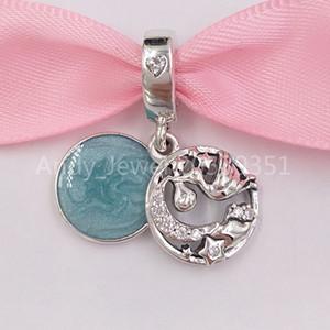 Authentiques Argent 925 Perles Stork étoiles scintillantes Dangle Charm Charms Bijoux Fits Europe Style Pandora Bracelets Collier 79