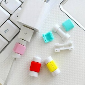 1000шт / серия Моды USB кабеля для передачи данных протектор цветастого протектор крышки наушников кабеля для Iphone Android мобильного телефона с ОППАМИ мешка