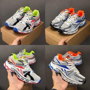 VETEMENTS x Pico Runner 200 executando sapatos para homens Mulheres Laranja Azul Multicolor Esporte Sneakers Trainers Zapatos des Chaussures Tamanho 36-45