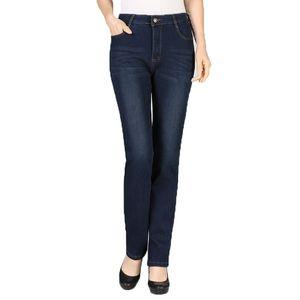 Women Winter Jeans Pants Dark Blue Denim Trousers Woman Casual Thicken Jean Trouser Fleece Denim Pant Straight Pantalones Mujer