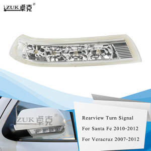 ZUK retrovisor espejo retrovisor lateral señal de vuelta de luz LED Repetidor para Hyundai Santa Fe Veracruz 2007 2008 2009 2010 2011 2012