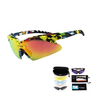 2019 latest polarized riding glasses 5 lens bicycle outdoor sports bicycle sunglasses color changing goggles fishing hiking riding glasses