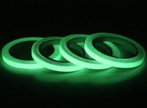 12MM 3M الأخضر مضيئة الشريط الشريط ذاتية اللصق للرؤية الليلية يتوهج في الظلام المرحلة السلامة سيارة ملصقا الرئيسية فن الديكور GGA718 120pcsN