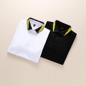 Neue gold marke medusa polo shirts schwarz frühling luxus italien herren t-shirt designer polo shirts high street stickerei druck kleidung shir