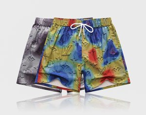 Summer embroidery Board Shorts Mens Back pocket beach shorts Pants letter printing High-quality Swimwear Bermuda Male Letter Surf Life Men