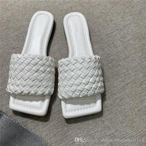 principios de la primavera tejer zapatillas delgadas cheque manera y las sandalias de la superficie de piel de oveja tejida con suela de cuero zapatillas, con packaging35-42cm originales