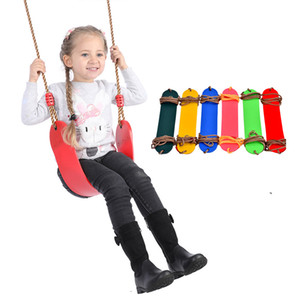 Indoor and Outdoor Children's Swing Colorful Children's Fitness Sports Tool EVA Soft Board One-seat Swing XD23626