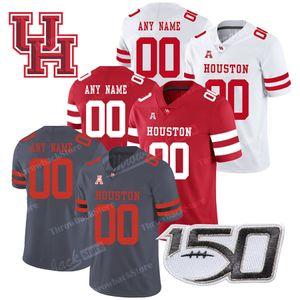 Costumbre Houston Cougars Escuela de Fútbol cosido 7 Caso Keenum 4 D'Eriq Rey UH Jersey Cualquier Número Nombre