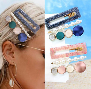 Novo 3 Pçs / set Grampos de Cabelo Para As Mulheres Moda Doce Menina Simples Estilo Coreano Hairpin Liga BB Handmade INS Headband Acessórios Para o Cabelo