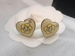 Fashionable hot selling heart drop oil earrings The designer loves the hoop earrings