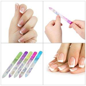 5 piezas de uñas de cristal archivos de diseño de uñas Nail Art lijado Shaper manicura kit Crystal presentación Conjunto de Herramientas colores colorido 5pcs / lot RRA1522