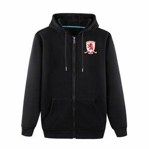 2020 Middlesbrough veste longue capuche de sport de football de football Survêtement Full-Zip Veste à capuche Vestes Voyage formation pour hommes