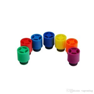 Mais recente Driptips 510 pontas de gotejamento cigarros eletrônicos bocal China estilo colorido ponta gotejamento ajuste rda centavo RBA subtanque alta qualidade DHL livre