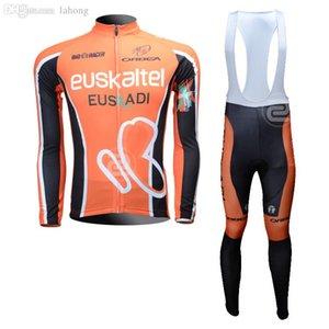 Wholesale-Free shipping!2016 Euskaltel Euskaditeam long sleeve cycling jersey