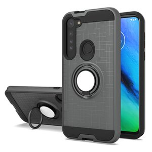 For Samsung A11 A21 Case Dual Layer Military Armor Phone Case Magnetic Ring Stand Shockproof Phone Cover