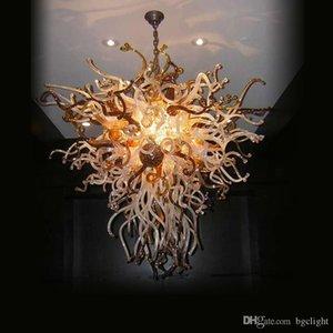 Simple Designed Vintage Pendant Led Livingroom And Bedroom Art Deco 100% Mouth Blown Borosilicate Hand Blown Glass Chandelier Light for Sale