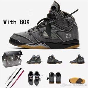 Avec Box Tag 2020 Hommes 5 5s Chaussures de basket-Sneakers 3M réfléchissant Gris Blanc Jaune pour les hommes de concepteur de marque de sport Formateurs