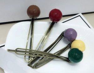 7 cm, coreano alla moda 5-color serie di fagioli di zucchero clip laterale, clip di parola, tornante, parrucchino, contatore di gioielli, regalo, 5pcs / lot