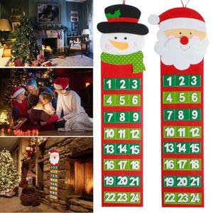 Noel Baba Noel Advent Takvimler Noel Snowman Eski Kıllı Adam Advent sayım Takvim Duvar Takvimi USPS Dropshipping
