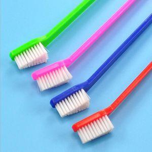 Ventas calientes Suministros de mascotas Gato Cachorro Perro Dental Aseo Cepillo de dientes Color Random Cleaning comb Tool 22 cm Longitud Regalo