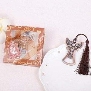 Recuerdos para fiestas de cumpleaños Angel Design Abrebotellas para caja de regalo Cumpleanos Anniversaire Regalos de boda favores wang
