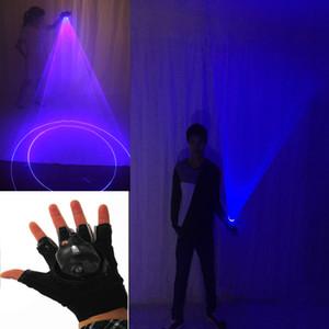 Blu 450nm rotante Laser Guanti palmare laser cannone, laser rotante guanto, LED Palm gyro luce pub partito Laser Show