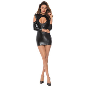 Porno Baby Doll látex Discoteca Stripper Roupa Sexy Latex Dress For Women Sexy Lingerie Sex Couro Bodysuit Erótico Underwear