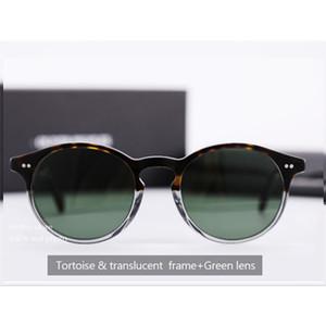 Новые Oliver Peoples ov5241 ЭЛИНС Мода Круглые солнцезащитные очки Женщины Brand Designer Vintage Gradient Оттенки ВС Очки óculos De Sol Feminino