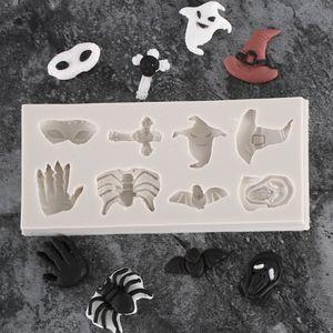 Высокое Качество Паук Череп Хэллоуин Ведьма Шляпа Призрак Шоколадная Помадка Силиконовые Формы Для Украшения Торта Инструменты