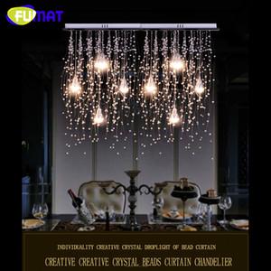 FUMAT كريستال سقف الأنوار إضاءة داخلية LED الحديثة G4 بقيادة نيزك إضاءة المطر لغرفة المعيشة / غرفة الطعام مصابيح تزيين المنزل