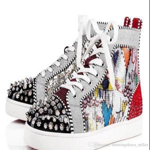 mens rojos de fondo Mujer de la manera las zapatillas de deporte de la plata Pik Pik No Limit espárragos RARO diamantes de imitación botas de graffiti