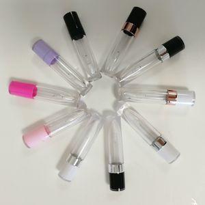 Vente en gros cosmétiques Round Lipgloss Emballage des contenants transparents unique Lip Gloss Tubes vides Lipgloss Bouteille Tube Flacons Voyage