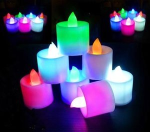 여러 가지 빛깔의 전자 촛불 LED 시뮬레이션 촛불 생일 결혼 무 화염 깜박임 캔들 플라스틱 홈 장식 EEA1693