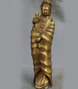 Statue of Buddha, home furnishing fengshui, ornaments, Guanyin bronze crafts, lotus goddess of mercY