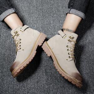 Caldo Caldo Vendita-Martin stivali invernali stivali Stivali da cowboy Grey Brown Tempo libero Martin Sneakers Fashion Designers Mens 40-44