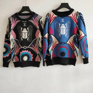 Milan Runway Sweater 2019 Mangas Largas O Cuello Suéteres de las mujeres de gama alta Jacquard Jerseys Diseñador de las mujeres Suéter 060608