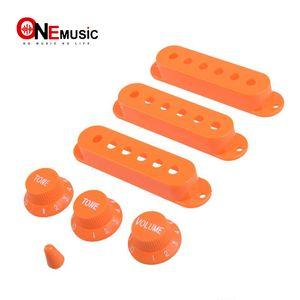 Turuncu Gitar Tek Bobin Pickup Kapak ile 1 hacim 2 Ton Düğmeleri Anahtarı Ucu