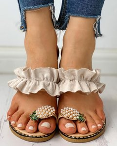 Oeak 2020 Nouveau femmes d'été Wedges antidérapante Plate-forme Chaussures femme talon haut extérieure Plage Chaussons Sandales Sapato Feminino