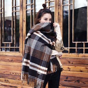 Inverno sciarpa di cachemire 80 * 190 centimetri unisex nappe plaid di modo della sciarpa a strisce ispessite Scialle lungo classico tovagliolo Sciarpe GGA2709