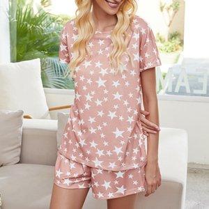 tZroL sqtrimmer DHL Bedava Pijama tiedye İçin Kadın pigiama Da Donna Başına Girocollo Tye Boya Kısa Mor Işık Travis Scott Batik Gömlek