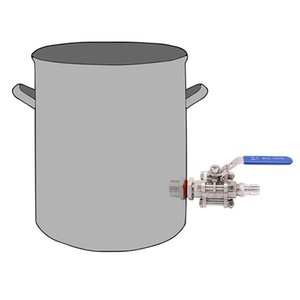 Weldless 304 SS 3-piece Ball Valve with Quick Disconnect Kit New Bulkhead Fit 1 2