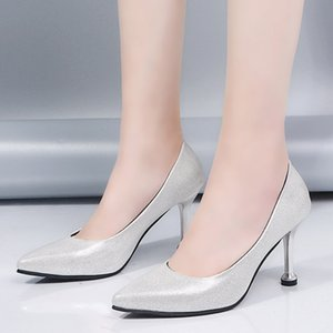 Hot Selling Women Shoes Pointed Toe Pumps Patent Leather Dress High Heels Boat Shoes Shadow Wedding Shoes Zapatos Mujer #G4