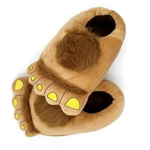 LIN KING Sweet Savage Foot унисекс зимние домашние тапочки теплый плюшевый крытый хлопок Нескользящая обувь для спальни Для любителей Y200424
