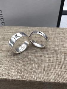 Nuovo set Commercio all'ingrosso della Cina Bulk ultimo disegno 925 anello d'argento di alta qualità gioielli paio Anello degli uomini di modo CON LA SCATOLA
