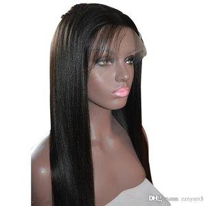 Hetero Full High Temperature Silk perucas para mulheres com luz brasileiras descorados Knots Perucas