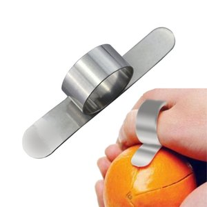 2017 Nuevas herramientas de cocina de acero inoxidable de Orange Peeler Parer dedo dispositivo Tipo de la lámina aguda abre fácil de cítricos de pomelo Stripper