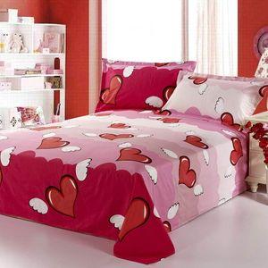 Çift yataklı grubu örtüsü King kraliçe düz levha yatak çarşafı organik pamuk basit çizgiler
